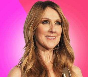 Céline Dion, en total look rose pour présenter sa collection de sacs (Photos)