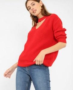 Pull rouge, Pimkie, 25,99€