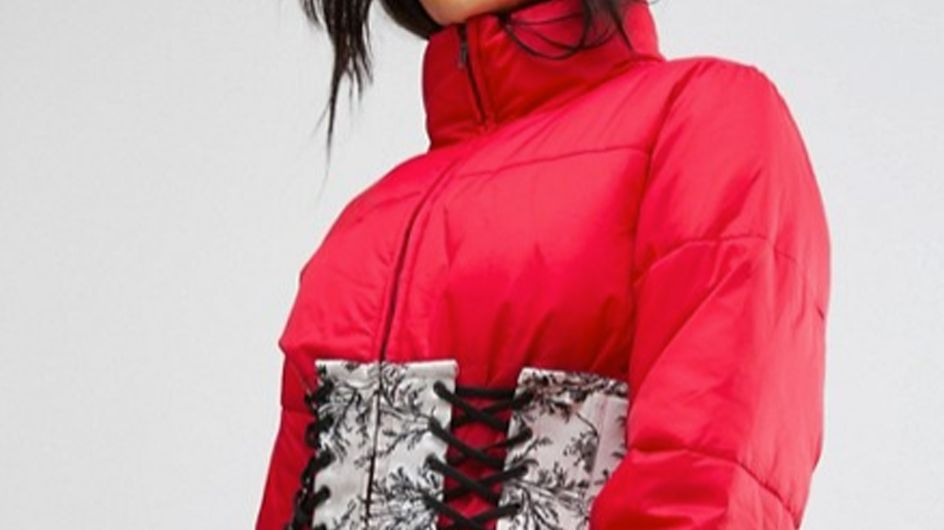 This ASOS Puffer Jacket With A Corset Is The Winter Coat You Never Knew You Needed