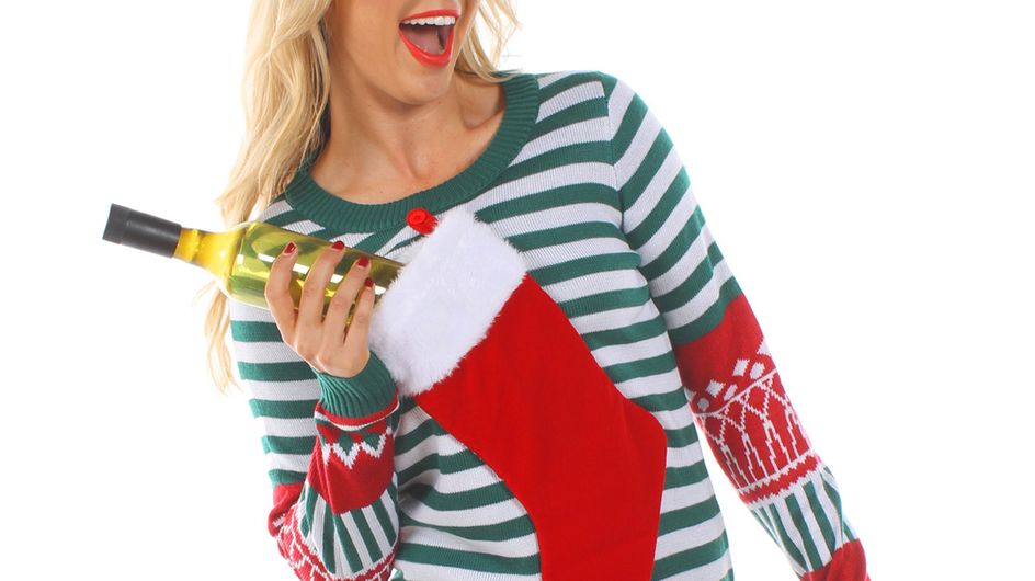 This Wine-Holding Christmas Jumper Should Be At The Top Of Your List