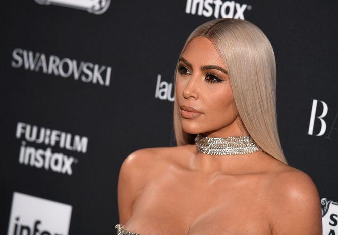 Kim Kardashian à la soirée Harper's Bazaar