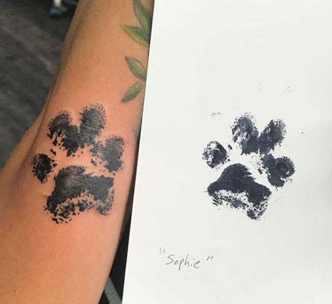 tatouage empreinte