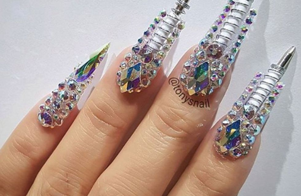This Crazy Pen Manicure Means You'll Literally Always Have A Pen To Hand