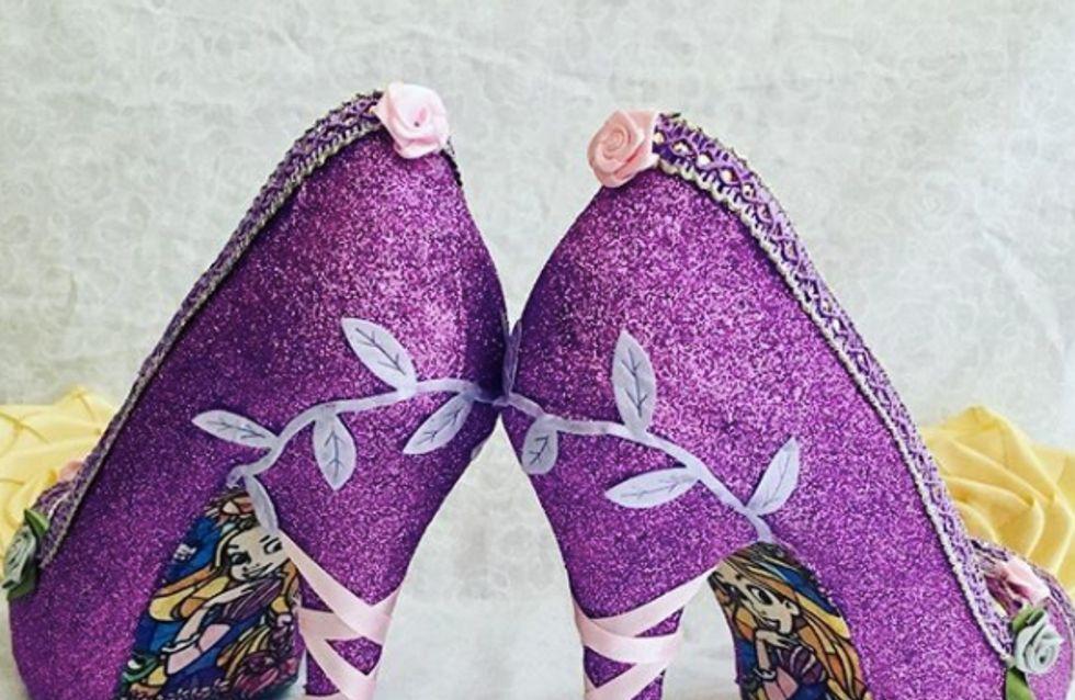 Les futures mariées vont craquer pour ces escarpins inspirés des Princesses Disney (Photos)