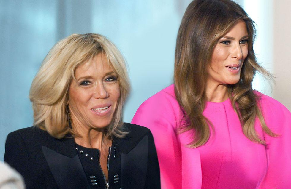 Brigitte Macron et Melania Trump : deux Premières Dames dont le style crée polémique (photos)