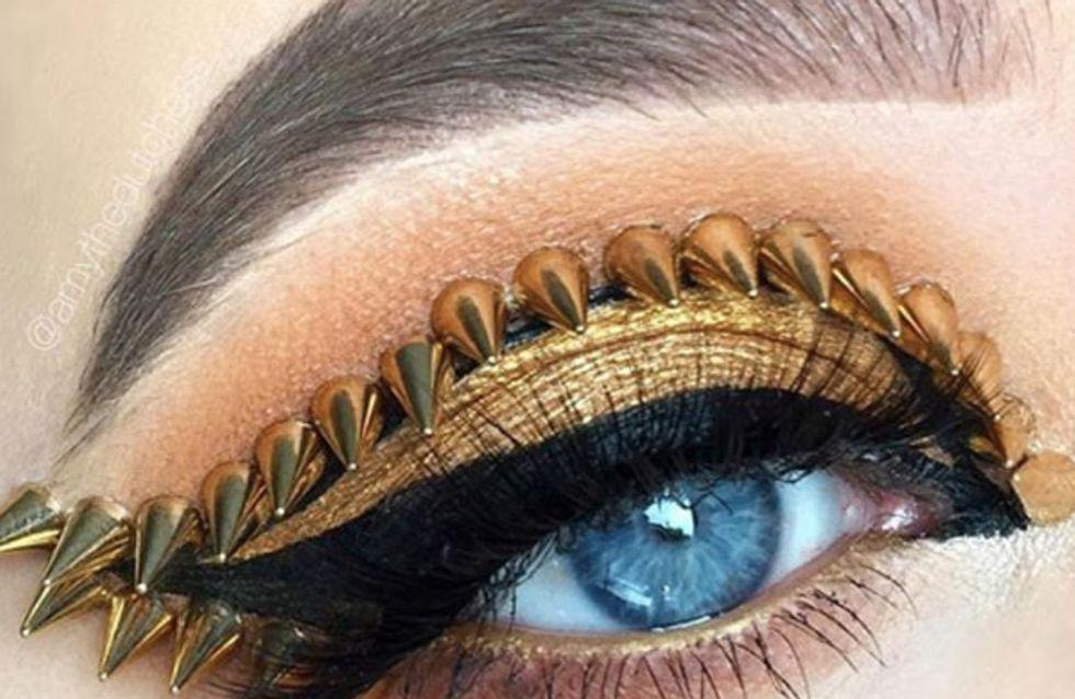 Maquillaje con tachuelas, la tendencia beauty más... ¿roquera?
