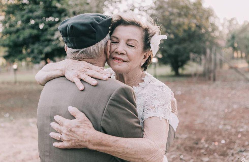 60 años después consiguen hacer su reportaje de boda y las fotos son entrañables
