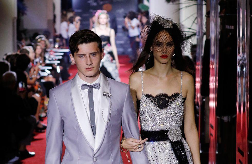 Noé, le fils de Gad Elmaleh défile pour Dolce & Gabbana à Milan (Photos)