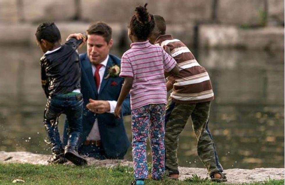 Unglaublicher Einsatz: Dieser Bräutigam rettet ein Kind vor dem Ertrinken