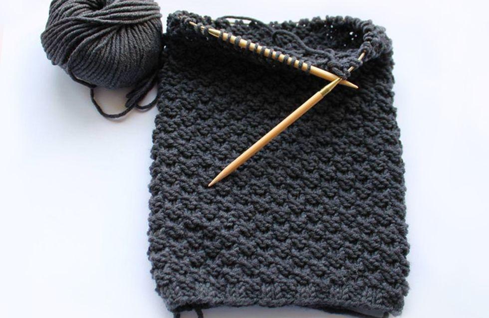 Loop-Schal für den Freund stricken: Mit dieser Anleitung gelingt das DIY-Geschenk