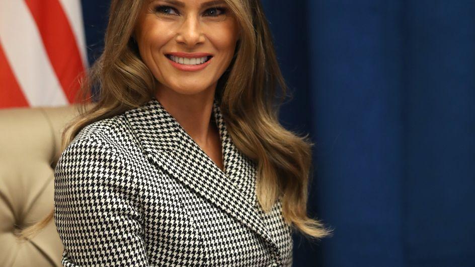 Melania Trump y su traje dos piezas de Dior, mejor look de la semana