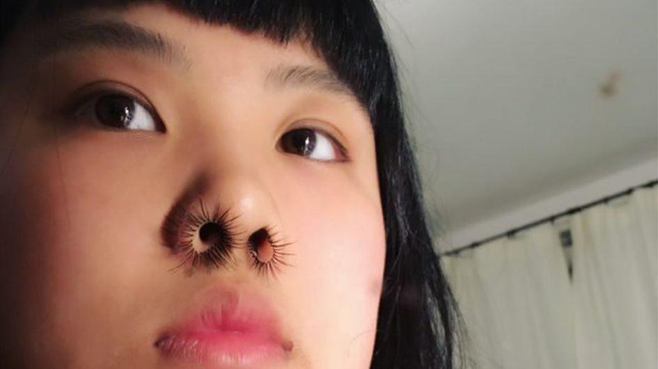 Les extensions de poils de nez, la nouvelle tendance affolante du web (Photos)