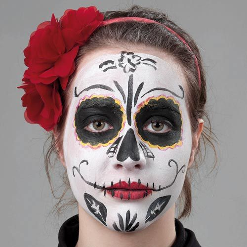 Mexikanische Totenmaske So Schminkst Du Das Halloween Make Up