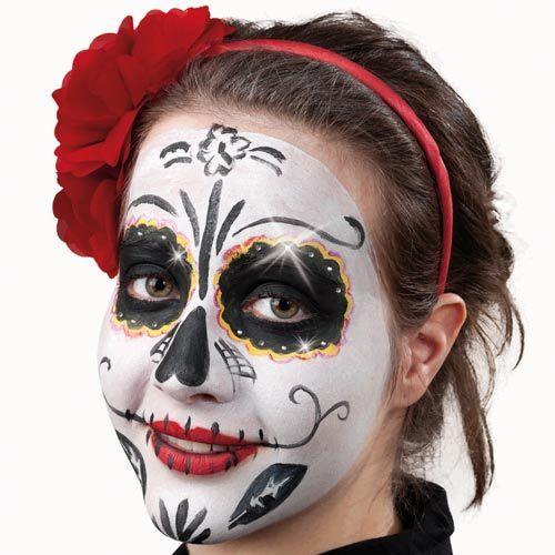 Mexikanische Totenmaske So Schminkst Du Das Halloween Make Up