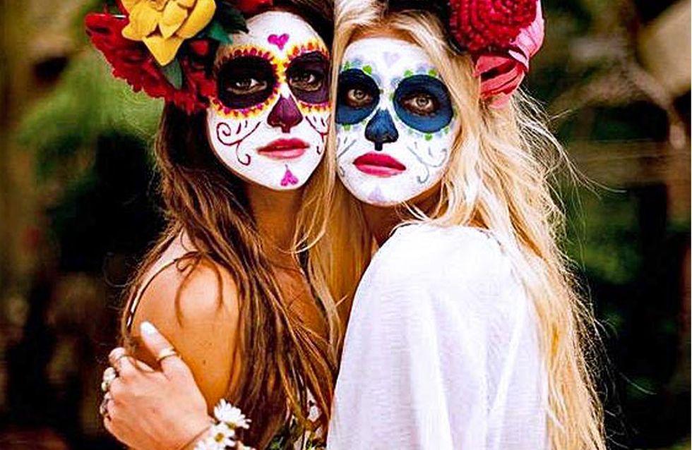 Halloween Make-up: So einfach schminkst du die mexikanische Totenmaske