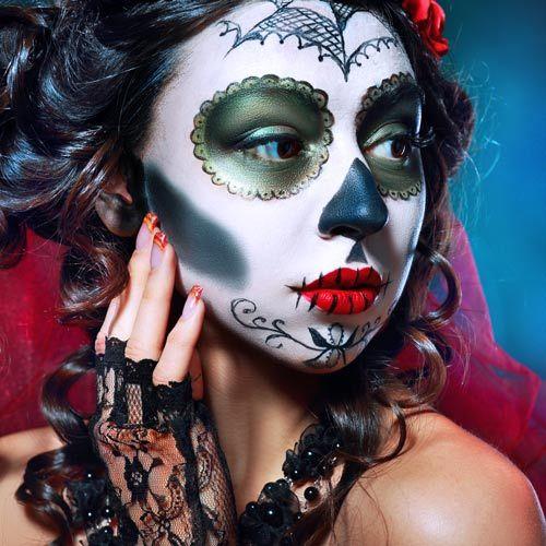 Halloween Make Up So Einfach Schminkst Du Die Mexikanische Totenmaske