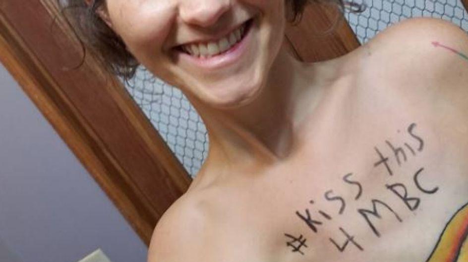 Elle recouvre sa double mastectomie d'un tatouage Wonder Woman (photos)