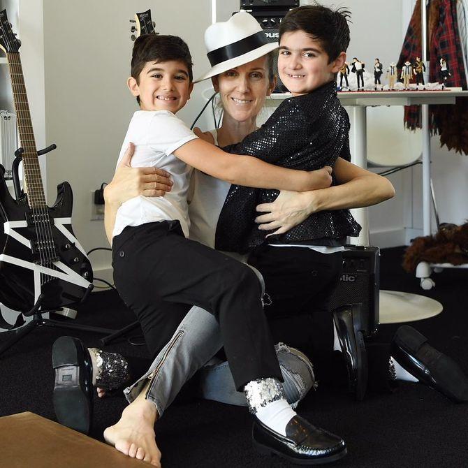 Céline Dion et ses deux jumeaux