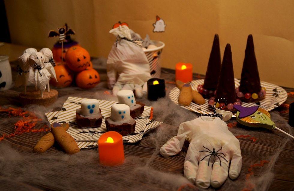 Une table terrifiante pour Halloween à faire avec les enfants