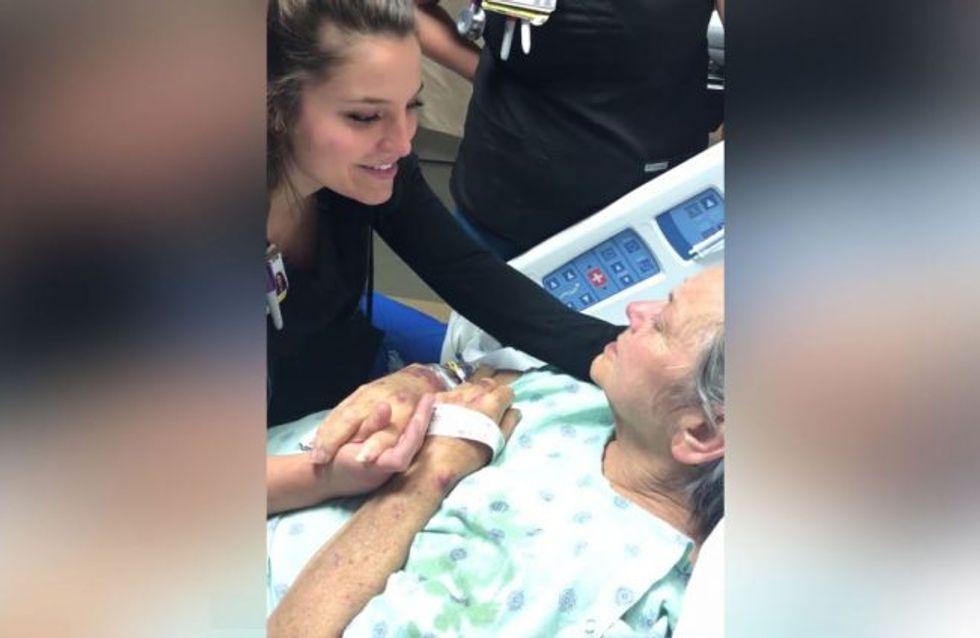 [VÍDEO] Una enfermera canta a una paciente terminal y emociona a las redes