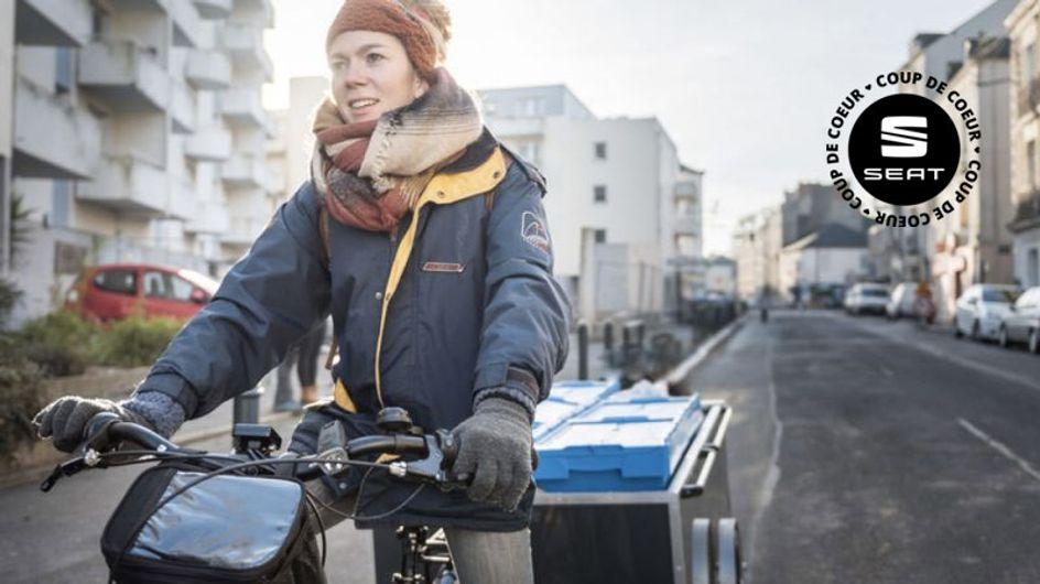 A Nantes, elle recycle les déchets en pédalant