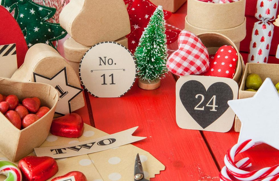 Adventskalender Weihnachtskalender XMAS zum Befüllen 24 Geschenktüten DIY Deco