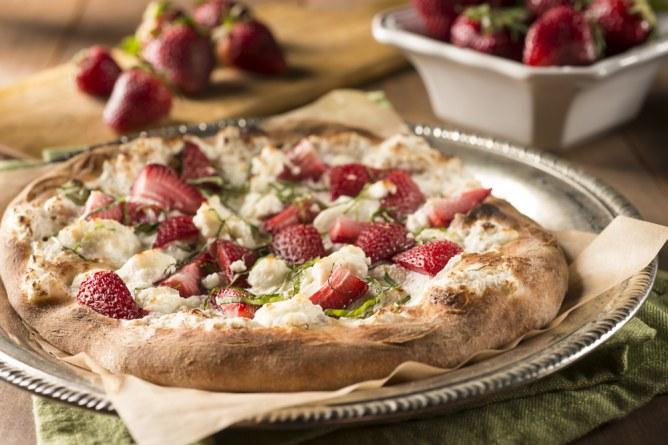 Pizza con fresa