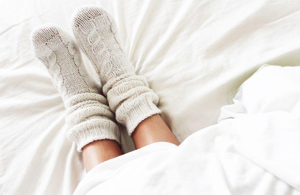 Das passiert mit deinem Körper, wenn du mit Socken schläfst