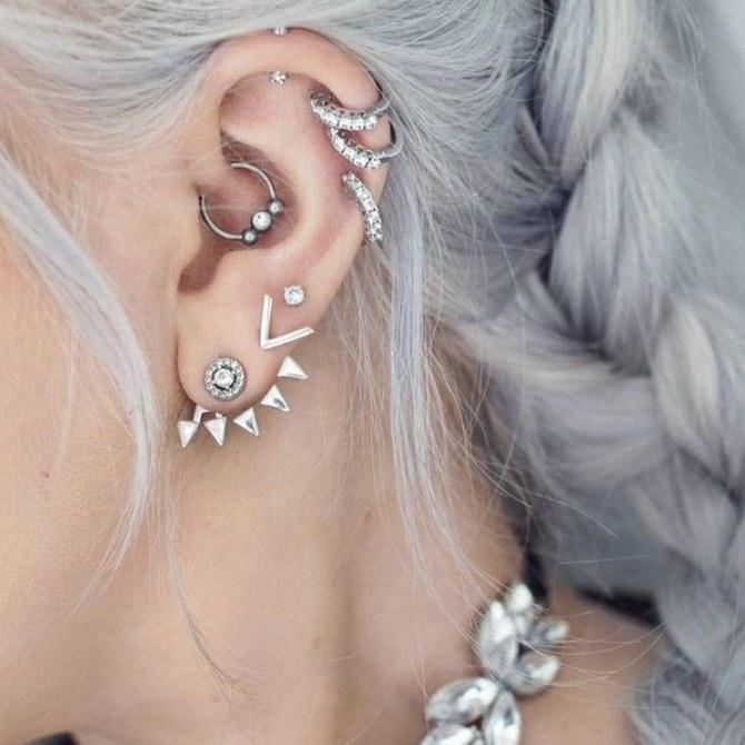 Inspiration: Die schönsten Daith-Piercings