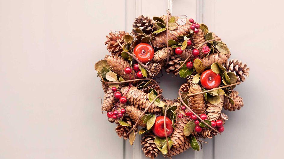 Adornos navideños con piñas: ideas para decorar tu casa de la forma más original