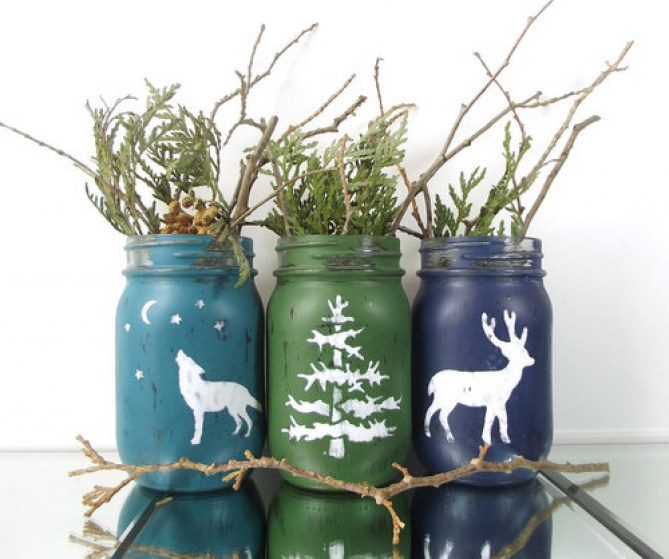 Objetos de Navidad: árboles navideños diferentes