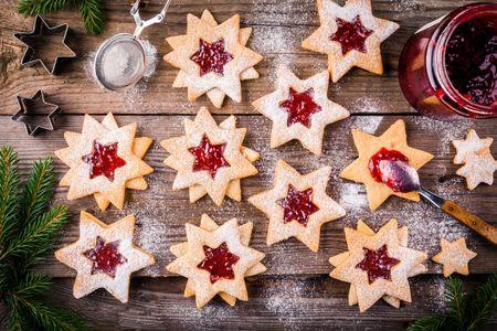 Galletas de mermelada de Navidad