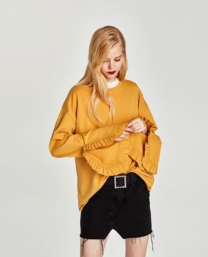 Top à volants, Zara, 15,95€