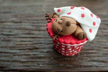 Cupcake reno durmiendo