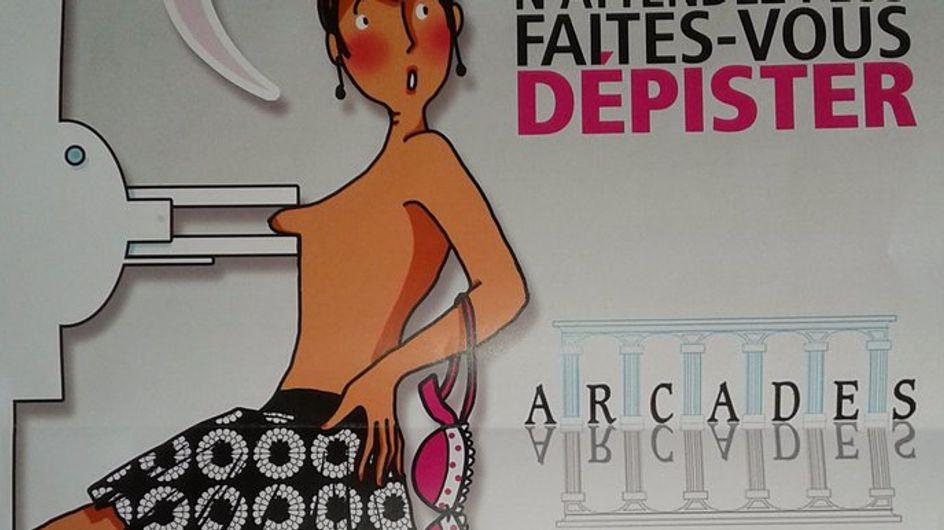 Cette affiche pour le dépistage du cancer du sein nous scandalise !