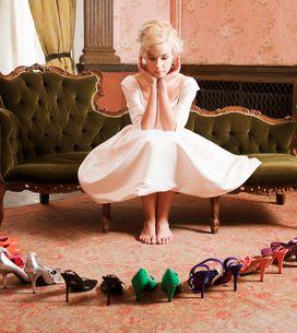 Los zapatos de color más bonitos para novias diferentes