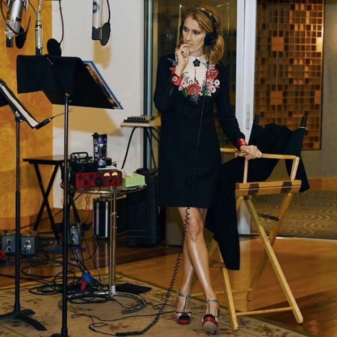 Céline Dion en studio