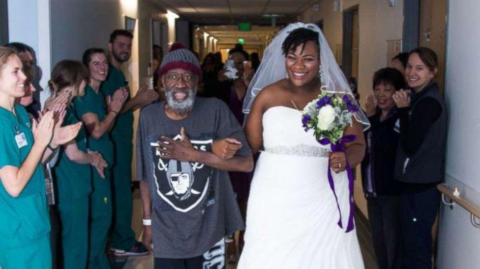 Elle avance la cérémonie et se marie à l'hôpital pour la plus belle des raisons (vidéo)