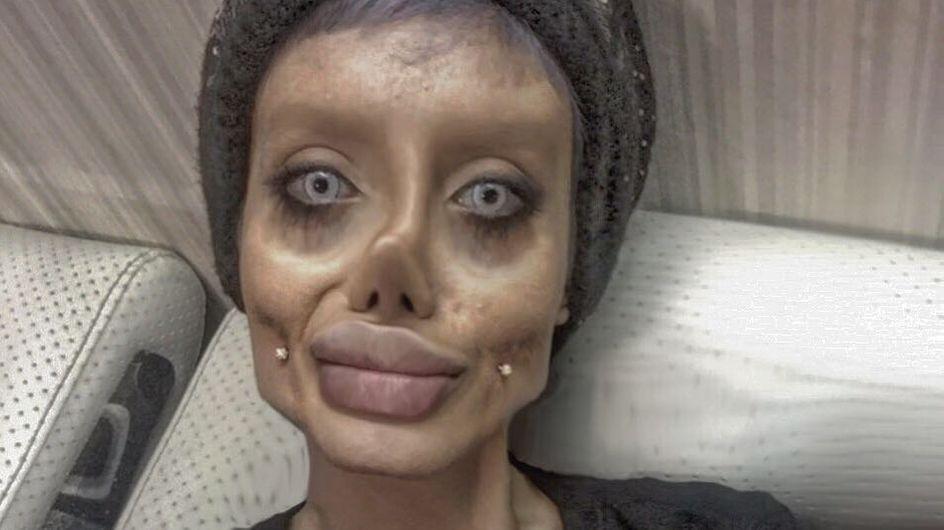 Elle ose TOUT pour devenir le sosie d'Angelina Jolie (Photos)
