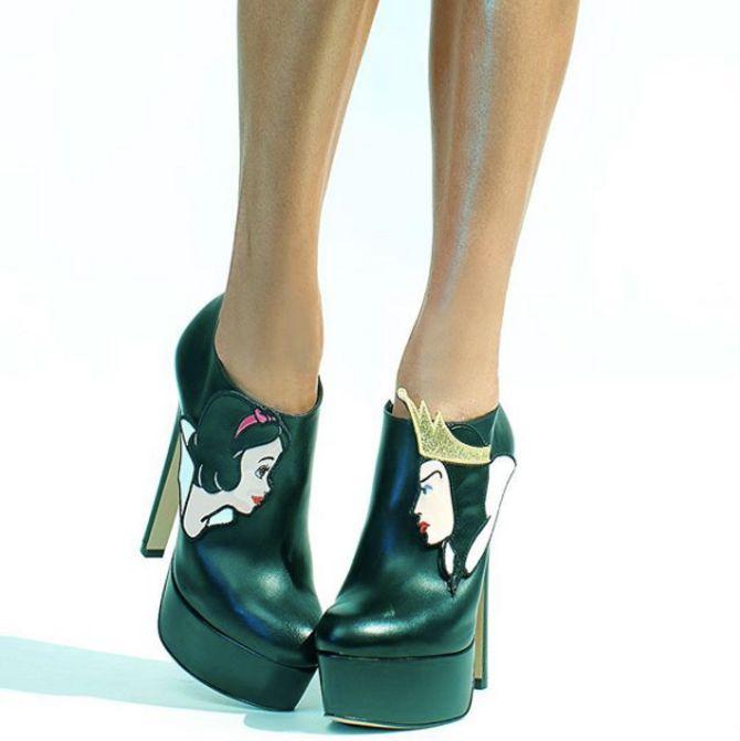 Les chaussures inspirées de Blanche Neige