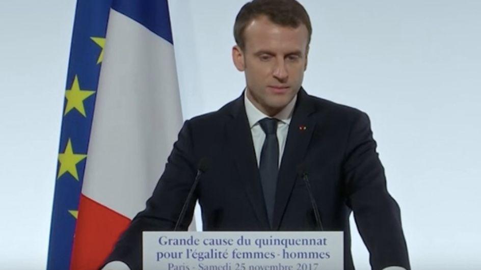 Emmanuel Macron dans le collimateur de féministes