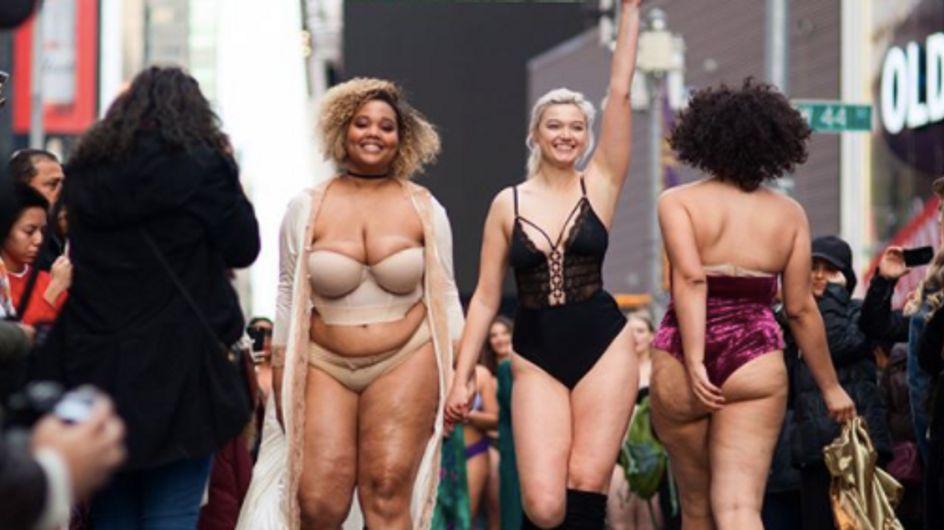 Elles défilent en lingerie en plein milieu de New York pour prôner la diversité des corps