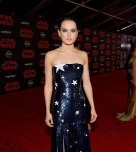 Daisy Ridley rayonnante et glamour pour la première de Star Wars : Les Derniers