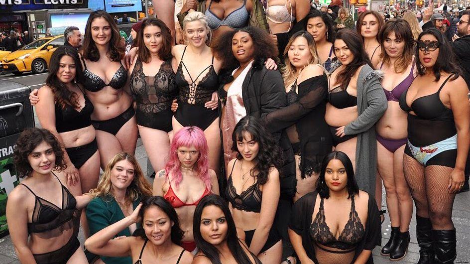 Sfilano in lingerie in risposta a Victoria's Secret per celebrare la bellezza di tutti i corpi