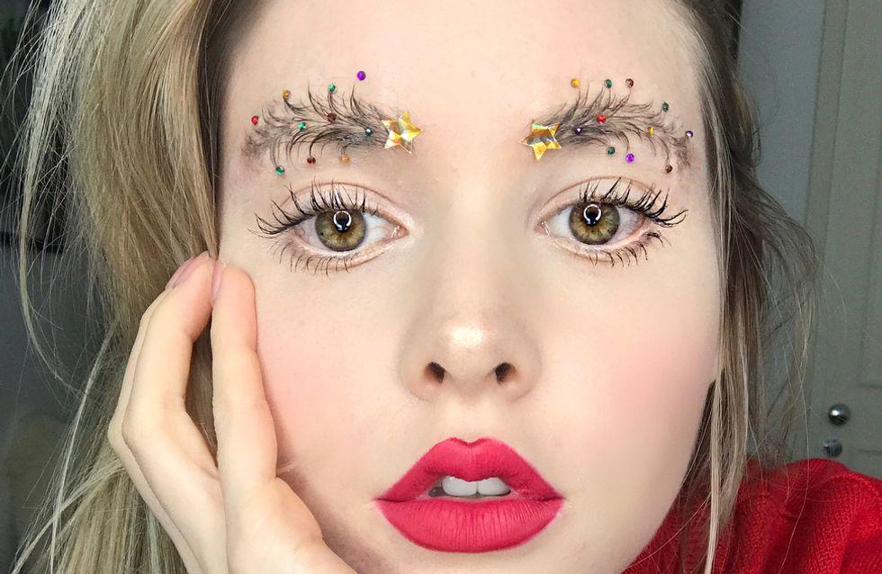 """Et si pour les fêtes vous adoptiez les sourcils """"sapins de Noël"""" ?"""