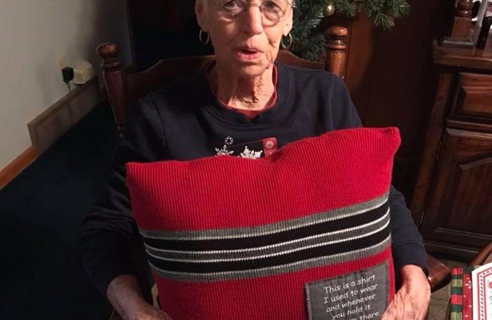 Elle reçoit le pull préféré de son mari décédé pour la plus belle des raisons (vidéo)