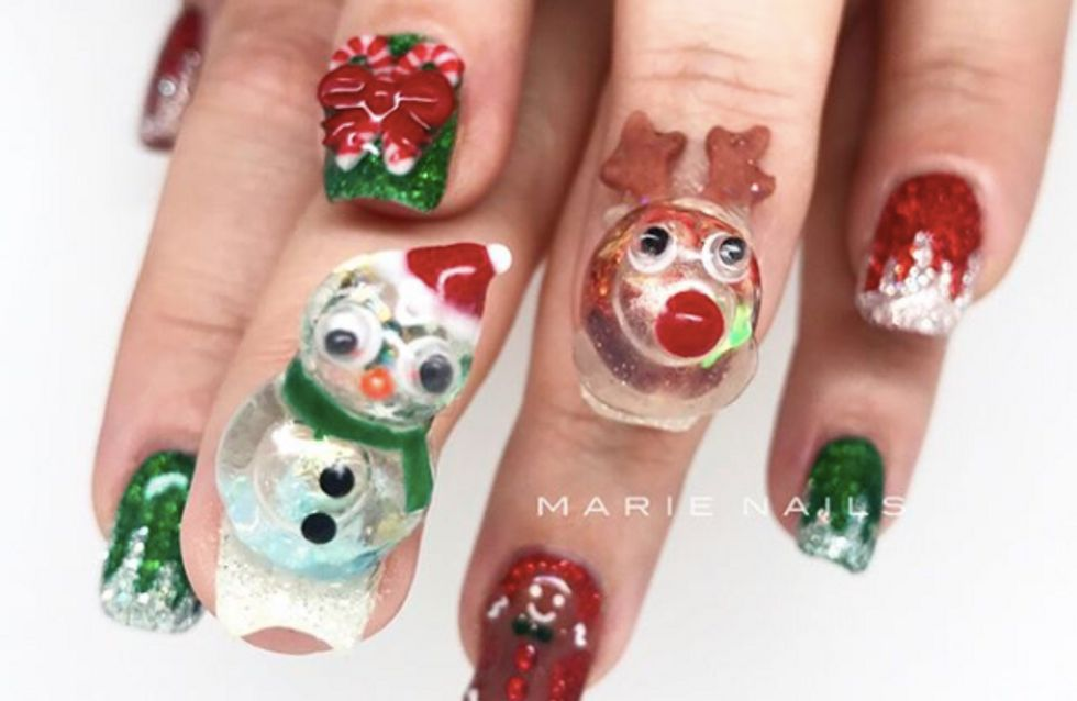 Voici la dernière manucure WTF que les beautistas ont adoptée pour Noël