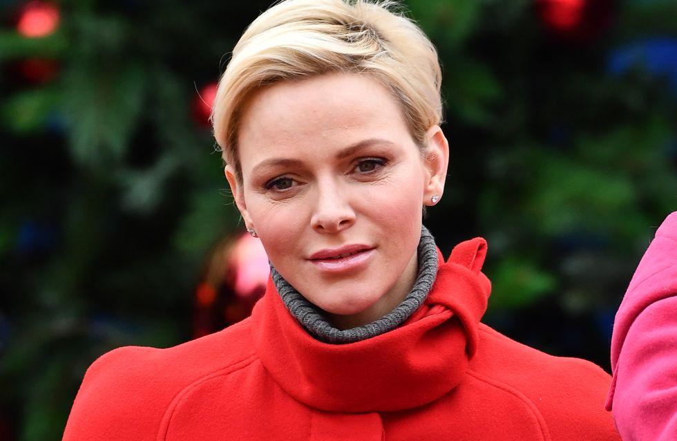 Charlène de Monaco, maman chic en rouge aux côtés du Prince Albert pour Noël (Photos)