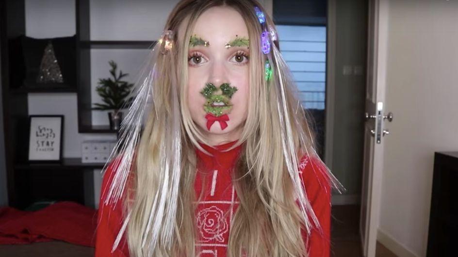 Elle a fait l'ultime combo des tendances beauté WTF de 2017 pour être au top à Noël (vidéo)