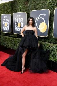 Kendall Jenner à la cérémonie des Golden Globes